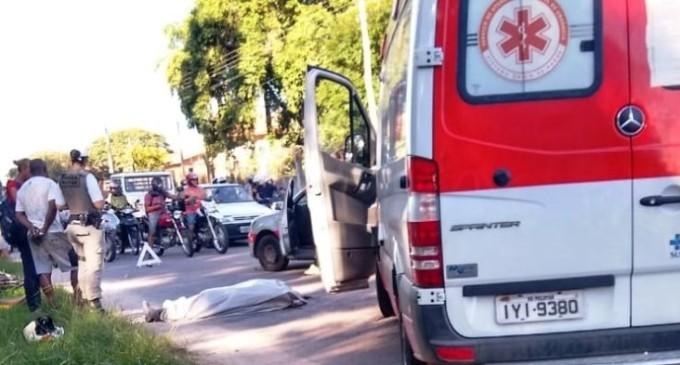 TRÂNSITO : Vítima fatal em acidente no acesso ao bairro Arco Íris