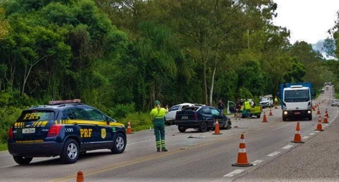 TRÂNSITO : Colisão na Cascata  com vítima fatal