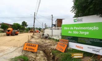 SANTA TEREZINHA : Obra do segundo trecho da avenida São Jorge chega a 60%