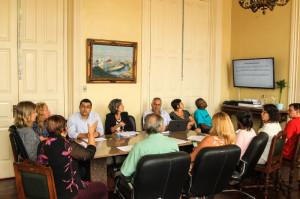 A reunião foi realizada na manhã de ontem, no Gabinete da Prefeita.