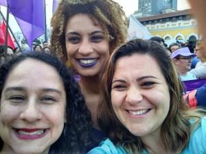 Luciana Boiteux, Marielle Franco e a vereadora pelotense Fernanda Miranda