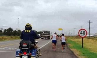 PRF age na segurança de  atletas da Supermaratona