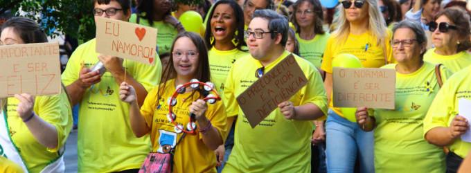 Caminhada dá início à 1ª Semana de Conscientização e Orientação sobre Síndrome de Down