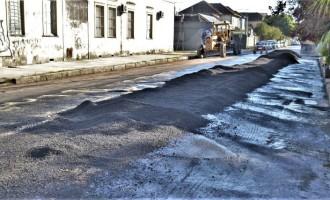 Acesso ao Quadrado está sendo asfaltado