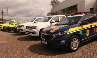 Ecosul faz entrega de viaturas à ANTT e PRF