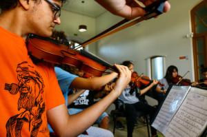 08.04.2019 -  Ensaio da Orquestra Estudantil - Foto Michel Corvello