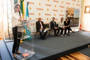 ANÚNCIO da eleição foi feito pela prefeita Paula Mascarenhas durante o lançamento do livro 'Dicionário da Cultura Pampeana Sul-Rio-Grandense', de Aldyr Schlee