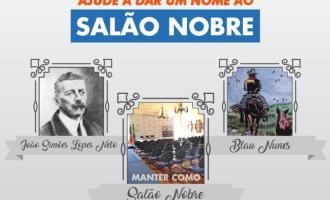 PREFEITURA  : População vai escolher nome do Salão Nobre