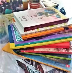 Equipe está recebendo doações de livros para adolescentes