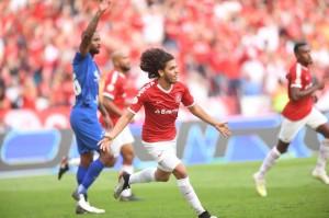 Nonato marcou seu primeiro gol pelo Inter na vitória por 3 a 1