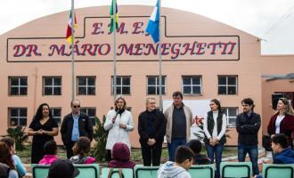 Inaugurada a primeira escola municipal de turno integral