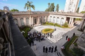 Jardim interno do Palácio