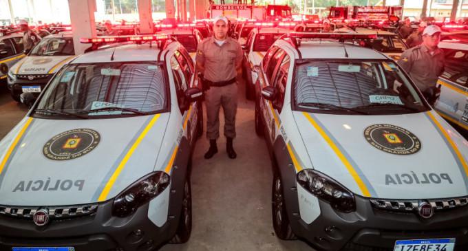SEGURANÇA REFORMADA : BM e Polícia Civil recebem novas viaturas e armamento