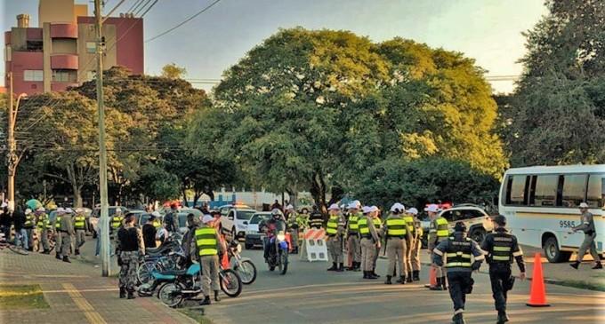Ação conjunta da Brigada, Guarda e STT aborda 200 pessoas