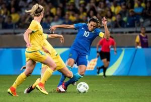 Marta contra as australianas; duelo sempre difícil