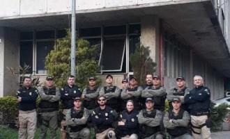 PRF ministra técnicas de abordagem a agentes da SUSEPE