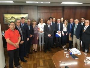 Paula acompanhou prefeitos da Azonasul durante agenda em Brasília
