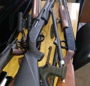 Armas apreendidas em Rio Grande