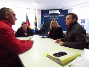 VEREADOR Marcola foi recebido pelo secretário estadual de Saúde, Leandro Thurow