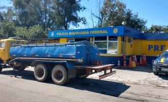 PRF flagra captação ilegal de água em São Lourenço