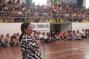ASSEMBLEIA geral da categoria lotou, ontem à tarde, o ginásio da Agremiação Pelotense de Esportes