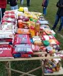 Alimentos arrecadados são distribuídos nos eventos