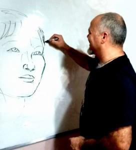 Autor e professor Sandro Andrade divulga curso para quem deseja desenhar