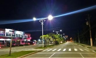 Iluminação de LED do acesso sul à cidade está em fase de testes
