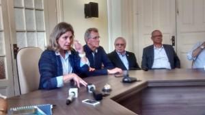 PREFEITA Paula Mascarenhas fez o anúncio em entrevista coletiva  nesta segunda-feira