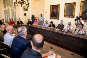 PAULA recebeu vereadores e direção do Simp e ampliou diálogo com municipários
