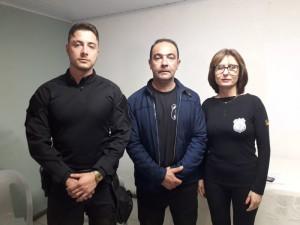 Superintendente adjunto Éverson Munhos,  Mateus Schwartz dos Anjos e a delegada penitenciária Deisy  Vergara