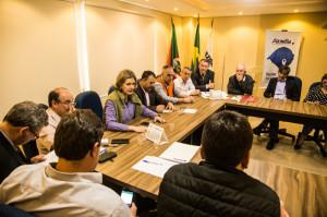 PREFEITA Paula Mascarenhas apresentou a situação de Pelotas na reunião