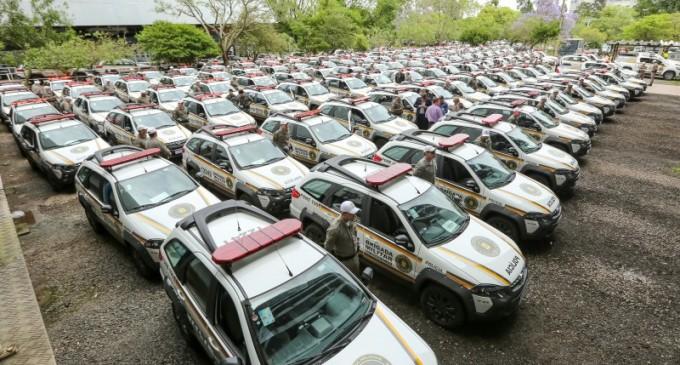 Brigada Militar recebe 134 viaturas para mais de 100 municípios