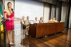 DELEGADA de Polícia Liziane  Matarredona também participou da solenidade