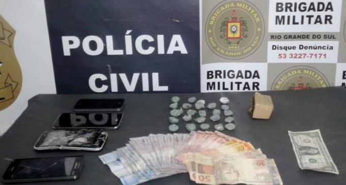 BRIGADA : Veículos recuperados e prisão de traficante com crack