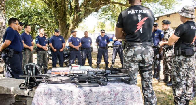 Guarda Municipal recebe treinamento do 5º BPChoque