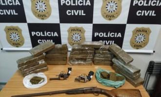 Ações da Polícia Civil apreendem mais de vinte quilos de maconha