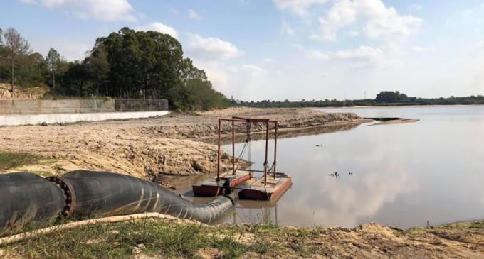 Sanep suspende aprofundamento na Barragem Santa Bárbara nesta quinta