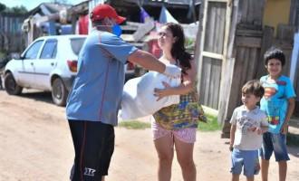 AÇÕES SOLIDÁRIAS : Taison e Daniel Carvalho fazem a parte deles