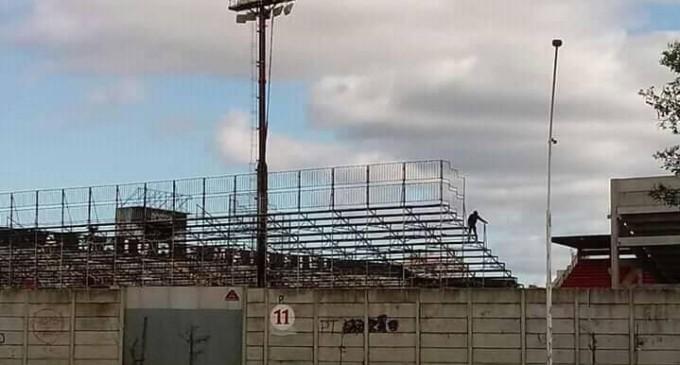 BENTO FREITAS :  Preparação do estádio para últimas obras pela Juscelino Kubitschek