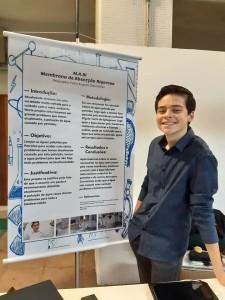 Pedro Doleske projetou, juntamente com outros estudantes, um robô para realizar testes rápidos da Covid-19.