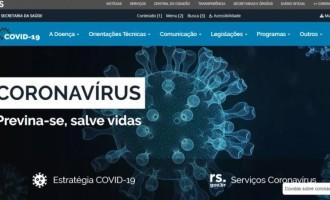 Governo lança site que reúne informações sobre coronavírus