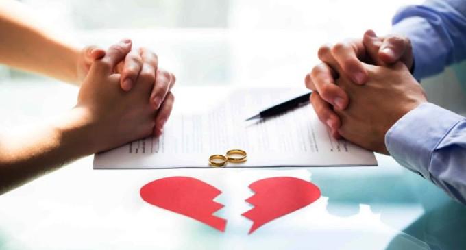 Cresce o número de divórcios e dissoluções de união estável
