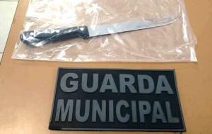 Faca foi usada em tentativa de homicídio na Castilho