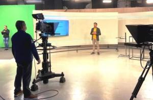 Gravações semanais na TVE em Porto Alegre