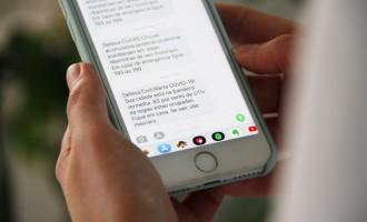 MENSAGENS DE TEXTO : Governo passa a emitir alertas sobre a Covid