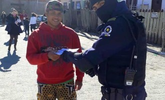 Guarda Municipal doa máscaras