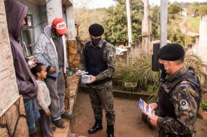 PATRULHA Rural realiza fiscalização no 7º Distrito Foto : Michel Corvello