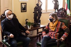 JOSÉ Olavo Passos com a prefeita  Paula Mascarenhas