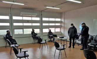 LEI DA MÁSCARA : Guardas municipais recebem  instrução